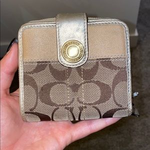 Coach wallet with change purse